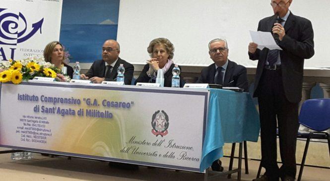 INTERESSANTE INCONTRO SULLA LEGALITA' AL 1° ISTITUTO COMPRENSIVO DI S. AGATA MILITELLO.