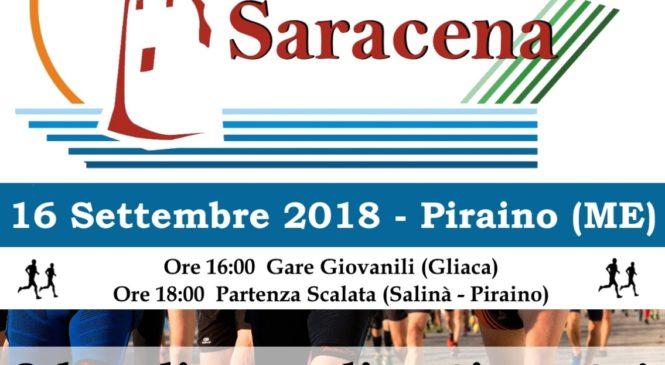 PIRAINO – DOMENICA 16 SETTEMBRE  LA 1^ SCALATA SARACENA 8 kM DI PURO DIVERTIMENTO