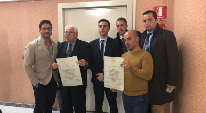 ROMA – CONFERITA AI POLIZIOTTI GRANATA E TODARO LA LAUREA ALLA MEMORIA