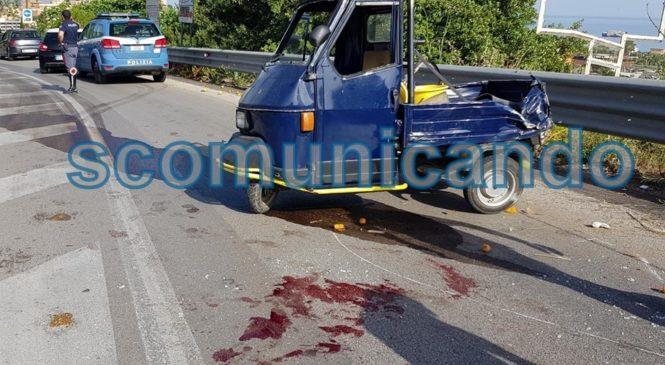 BROLO – INCIDENTE:  GRAVE UN BROLESE, TRASPORTATO IN ELISOCCORSO A CATANIA