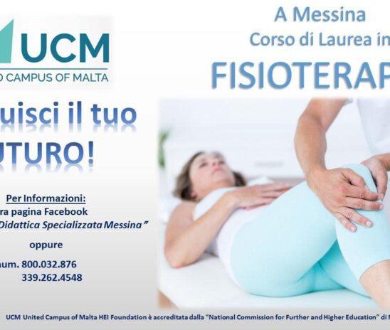 Messina – l'UCM istituisce il primo corso di laurea in Fisioterapia