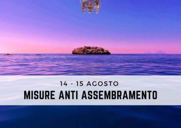 BROLO – 14-15 AGOSTO MISURE ANTI ASSEMBRAMENTO